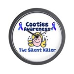 Cooties Awareness Wall Clock