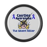 Cooties Awareness Large Wall Clock