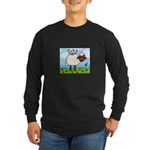 Spring Sheep Long Sleeve Dark T-Shirt