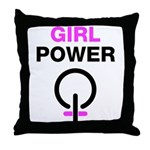 Girl Power Symbol Throw Pillow