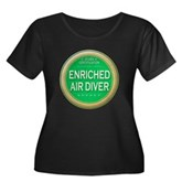 Certified Nitrox Diver Women's Plus Size Scoop Nec