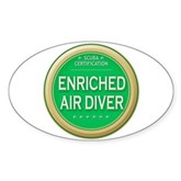 Certified Nitrox Diver Oval Sticker