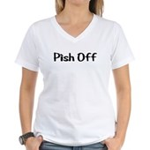  Pish Off Women's V-Neck T-Shirt