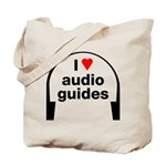 I Love Audio Guides Tote Bag