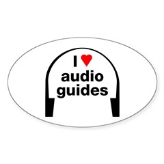 I Love Audio Guides Sticker (Oval)