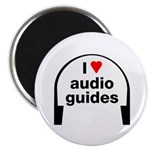 I Love Audio Guides Magnet