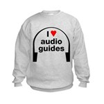 I Love Audio Guides Kids Sweatshirt
