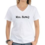 Mrs. Ferrell Women's V-Neck T-Shirt