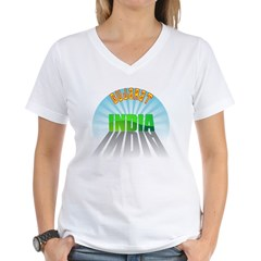 Gujarat India Women's V-Neck T-Shirt
