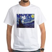 Starry Dove White T-Shirt