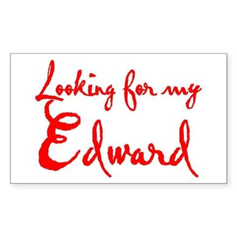 Looking for my Edward Rectangle Sticker
