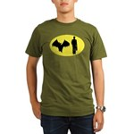 Bat Man Organic Men's T-Shirt (dark)