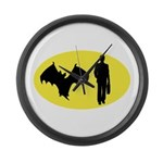 Bat Man Large Wall Clock