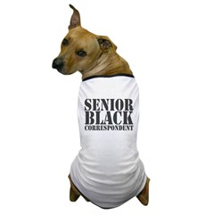 Senior Black Correspondent Dog T-Shirt
