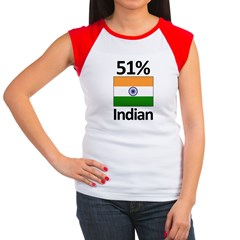 51% Indian Women's Cap Sleeve T-Shirt