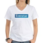 Evenstad Norway Women's V-Neck T-Shirt
