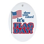 Flag Day Ornament (Oval)