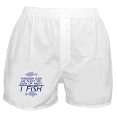 Through Rain... I Fish Boxer Shorts