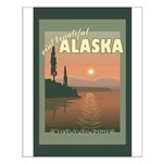 Visit Beautiful Alaska Small Poster