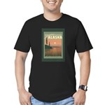 Visit Beautiful Alaska Men's Fitted T-Shirt (dark)