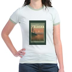 Visit Beautiful Alaska Jr. Ringer T-Shirt