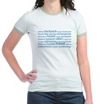 Travel Tag Cloud Jr. Ringer T-Shirt