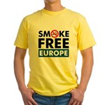 Smoke Free Europe Yellow T-Shirt
