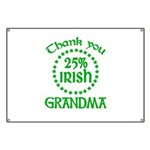 25% Irish - Thank You Grandma Banner