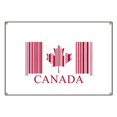 Barcode Canada Flag Banner