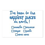Happiest Places on Earth Postcards (Package of 8)