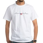 American Flag Chicago Skyline White T-Shirt