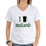 I Love Ireland (beer) Women's V-Neck T-Shirt