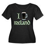 I Love Ireland (beer) Women's Plus Size Scoop Neck Dark T-Shirt