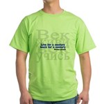 Live for a Century, Learn for a Century Green T-Shirt