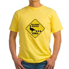 Talking Ducks Crossing Yellow T-Shirt