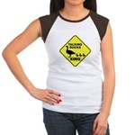 Talking Ducks Crossing Women's Cap Sleeve T-Shirt