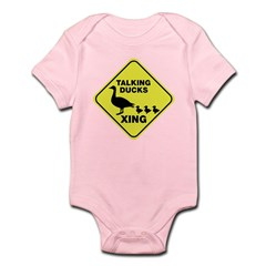 Talking Ducks Crossing Infant Bodysuit