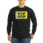 313 License Plate Long Sleeve Dark T-Shirt