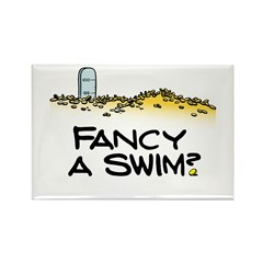 Fancy a Swim? Rectangle Magnet