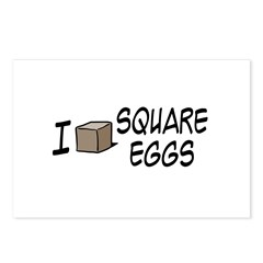 I Love Square Eggs Postcards (Package of 8)