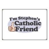 You might be going to hell, but that shouldn't stop you from being Stephen Colbert's friend. If you're Catholic and a member of the Colbert Nation, you need this! I'm Stephen's Catholic Friend!