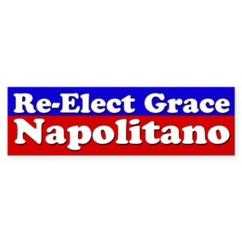 Re-elect Grace Napolitano to the U.S. Congress (bumper sticker)