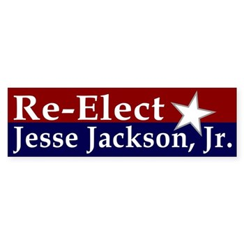 Re-Elect Jesse Jackson Jr. to the United States Congress as Representative from Illinois Bumper Sticker