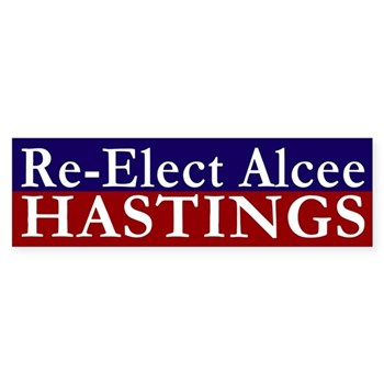 Re-Elect Alcee Hastings to U.S. Congress bumper sticker