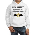 Army Brother-in-law Defending Hooded Sweatshirt
