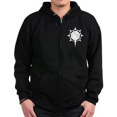 Zip Hoodie (dark) Morning Sun from the Metal From Finland Shop