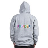 Colorful Retro Liberal Zip Hoodie