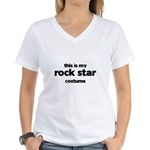 this is my rock star costume Women's V-Neck T-Shirt