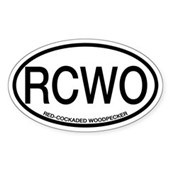 RCWO Red-cockaded Woodpecker Oval Sticker