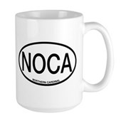 NOCA Northern Cardinal Alpha Code Large Mug
